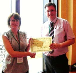 2009 winner, Gemma Haffenden, with committee chairman Gareth Neighbour