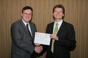 2007 winner, Philip Adelhelm, with the committee member Gareth Neighbour